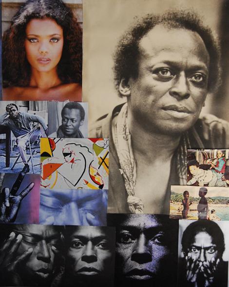 Tempus Fugit, hommage à Miles Davis, collage sur toile. Marc Albert-Levin.